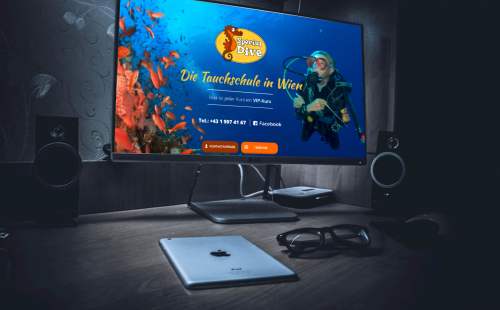 TechChild IntelliChance Special Dive Tauchschule Homepage Relaunch