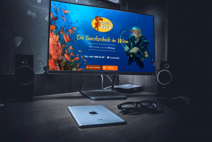 TechChild IntelliChance Special Dive Tauchschule Homepage Relaunch